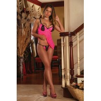BABYDOLL & G-STRING PINK Exposed