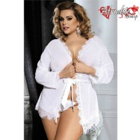 Babydoll QUEEN PLUS SIZE Branco